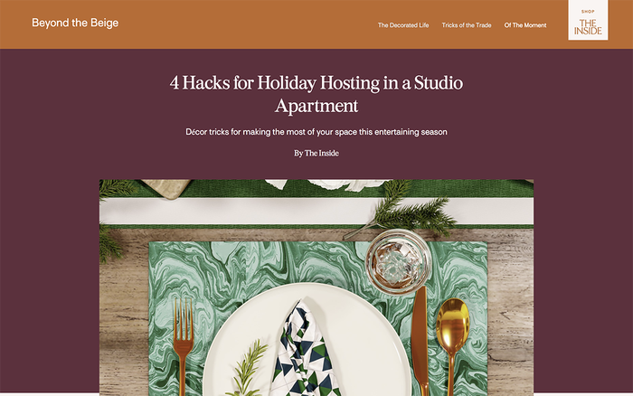 The Inside furniture website 4