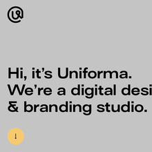 Uniforma portfolio website