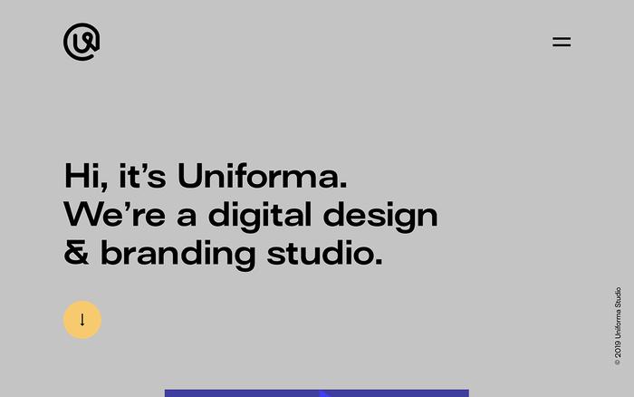 Uniforma portfolio website 1