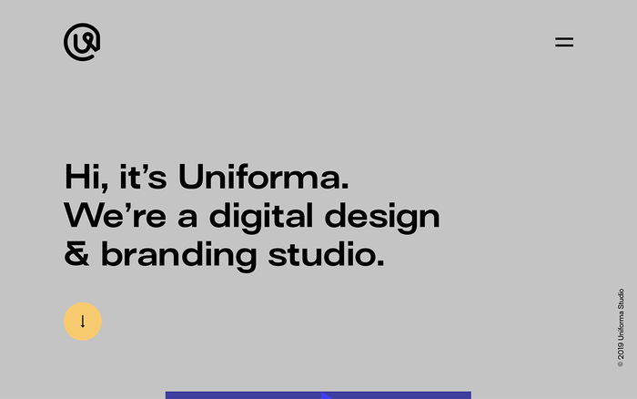 Uniforma portfolio website 1