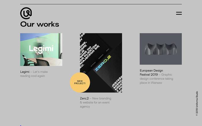 Uniforma portfolio website 2