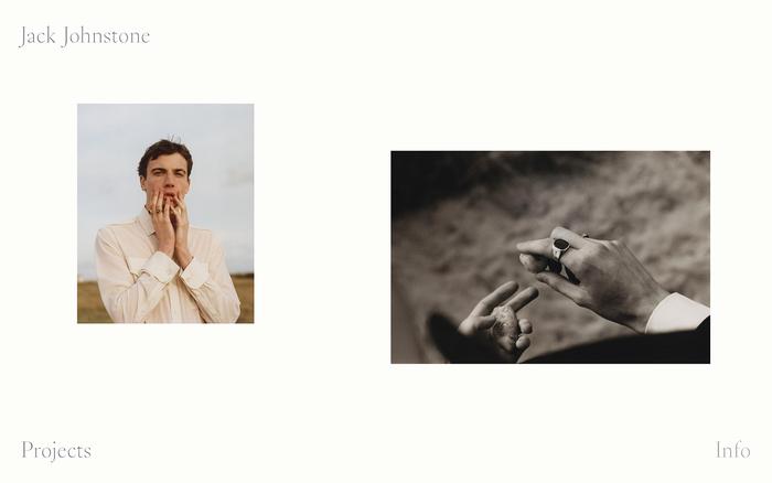 Jack Johnstone portfolio website 1