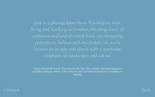 Jack Johnstone portfolio website