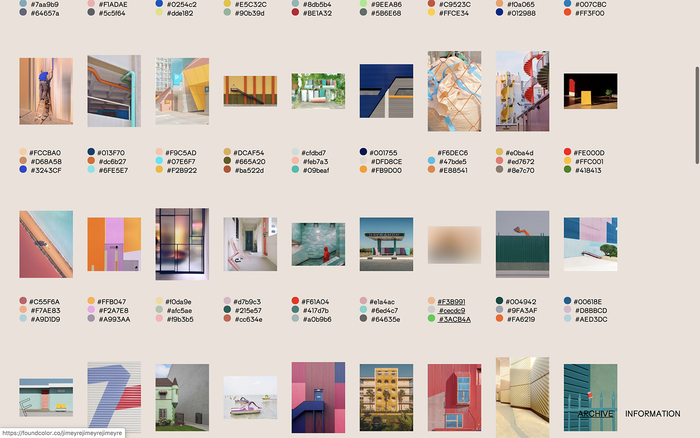 Found Color Archive website 5