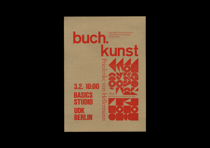 Buch.kunst lecture poster 2