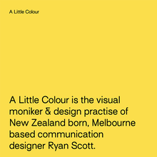 A Little Colour studio website