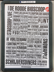 Roode Bioscoop program posters