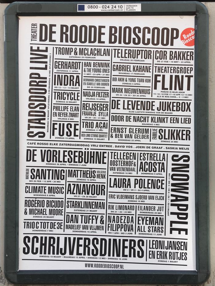 Roode Bioscoop program posters 1
