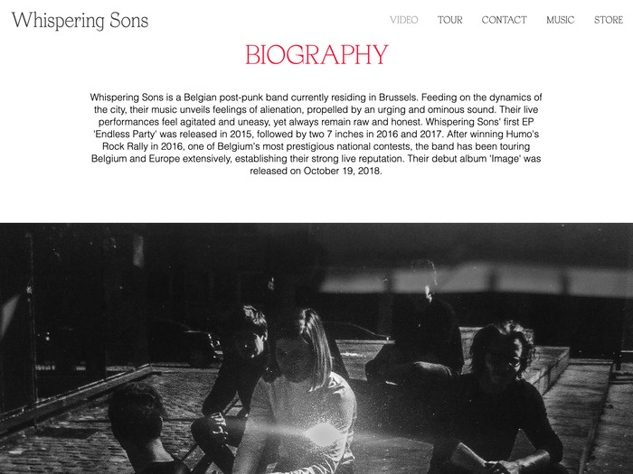 Whispering Sons – Image album art and collateral 2