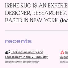 Irene Kuo portfolio website