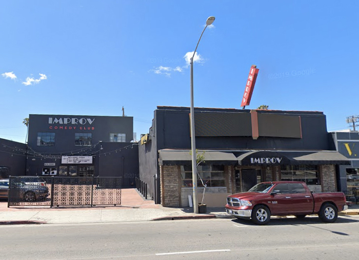 The Improv on 8162 Melrose Avenue, Hollywood in 2019.