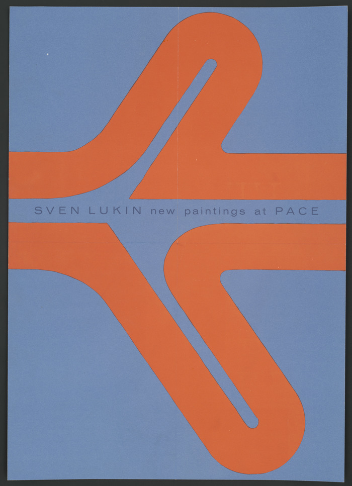 """""""Sven Lukin, new paintings at Pace"""" poster"""