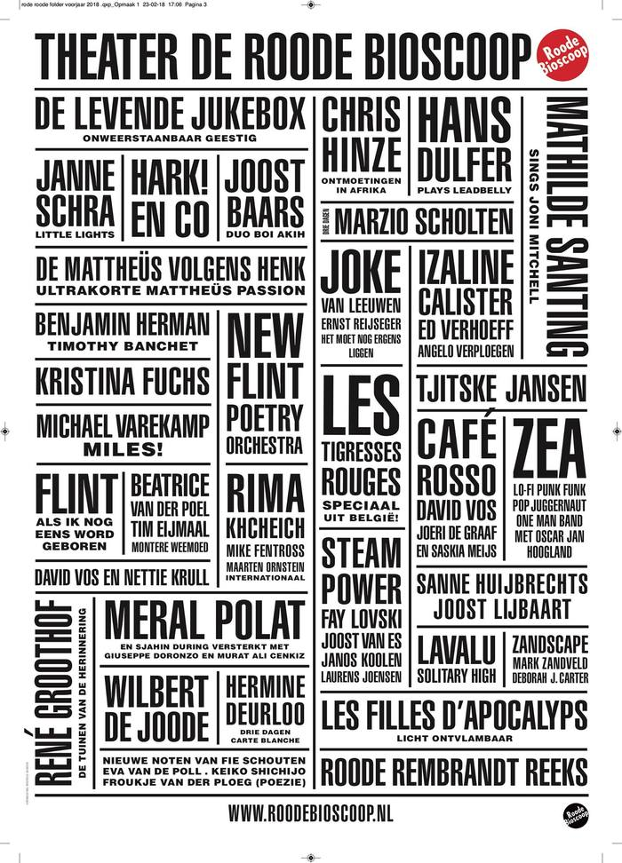 Roode Bioscoop program posters 5