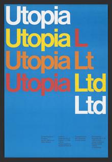 <cite>Utopia Ltd</cite> MIT opera poster