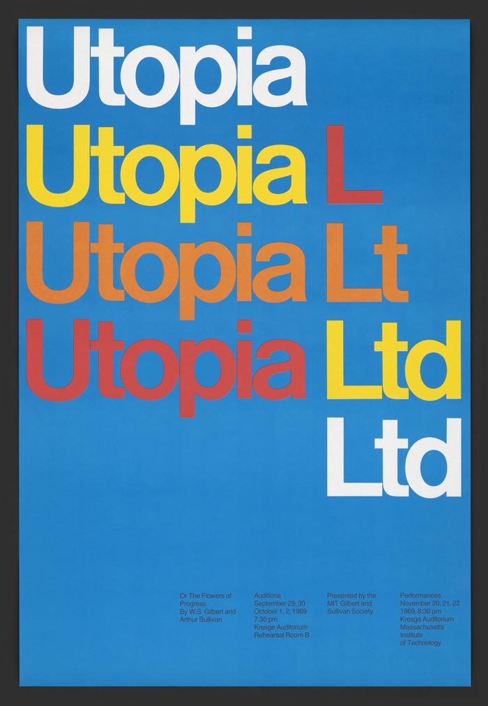 Utopia Ltd MIT opera poster