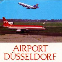 Airport Düsseldorf postcard