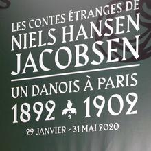 <cite>Les Contes Étranges de Niels Hansen Jacobsen</cite> at Musée Bourdelle exhibition graphics