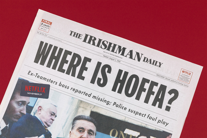 Image result for newspaper where is hoffa netflix