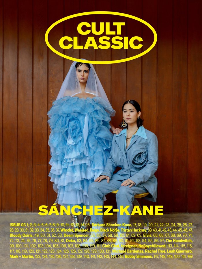 Each issue of Cult Classic comes in three different cover variants. The covers for issue 03 are dedicated to fashion deisgner Barbara Sánchez-Kane, mysticism website The Hoodwitch, and rapper Deem Spencer.
