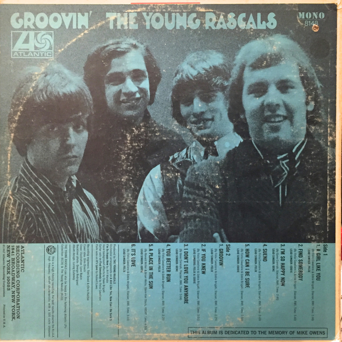 The Young Rascals – Groovin' album art 2