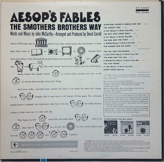 Smothers Brothers – Aesop's Fables album art 2