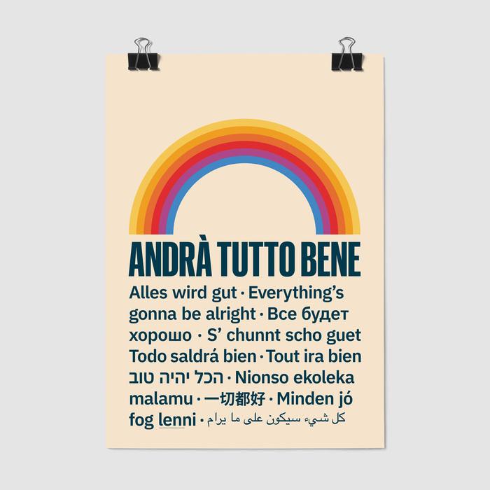 """""""Andrà Tutto Bene"""" poster 1"""