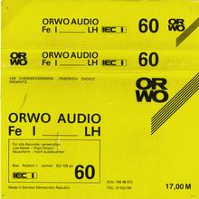 ORWO Audio Fe I LH cassette