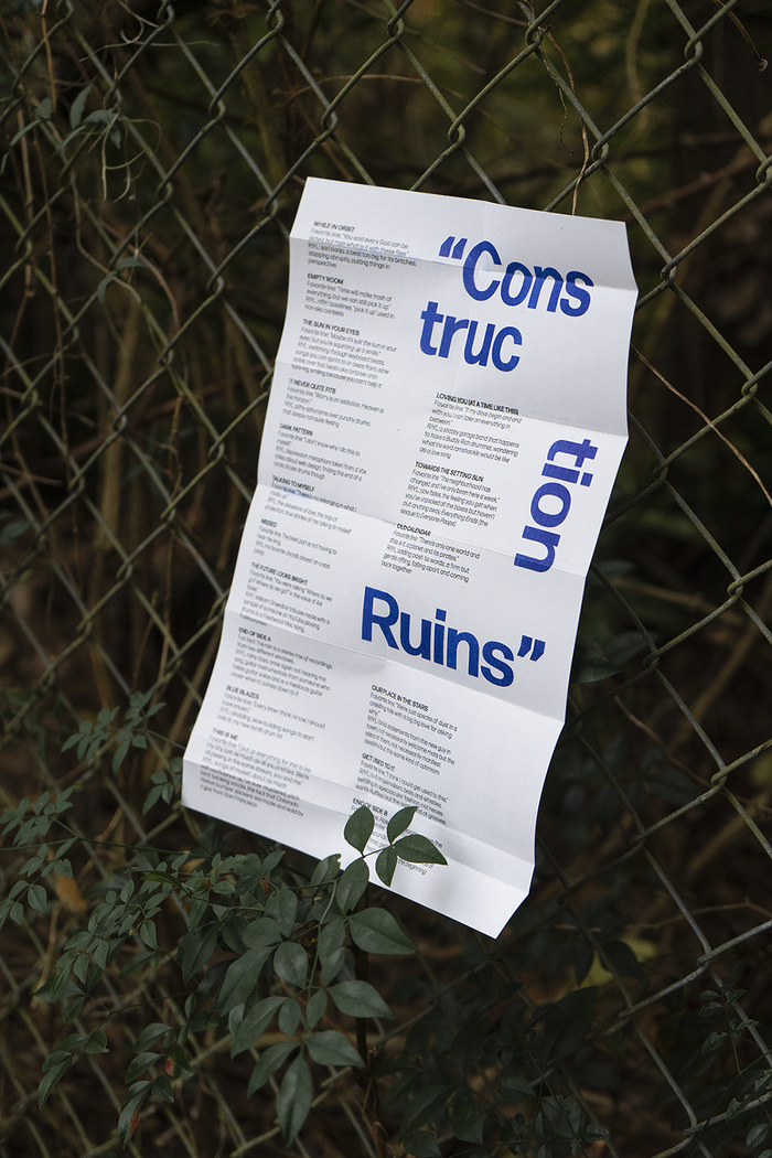 Handsome Pants – Construction Ruins album art and liner notes 6