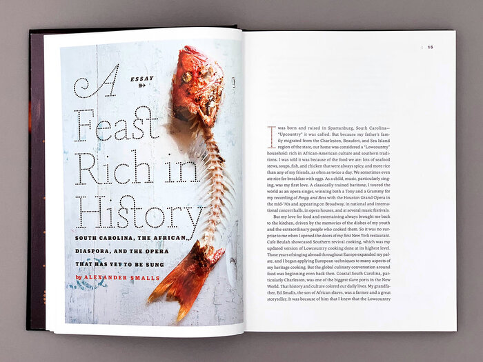 """A Feast Rich in History"" showcases Tanja Italic's swash A and its discretionary ligature for st."
