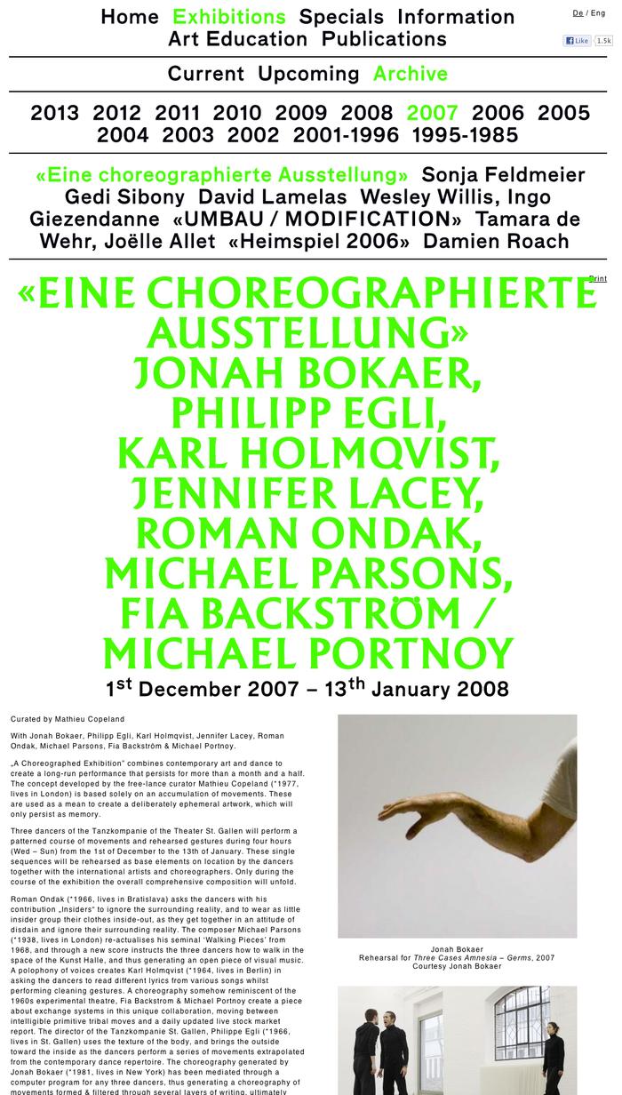 Kunst Halle Sankt Gallen Website 1