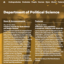 University of Illinois Department of Political Science Website