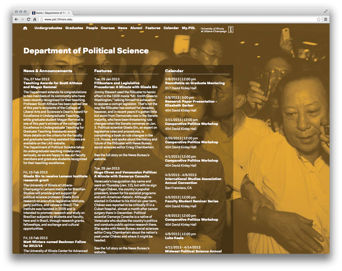 University of Illinois Department of Political Science Website 1
