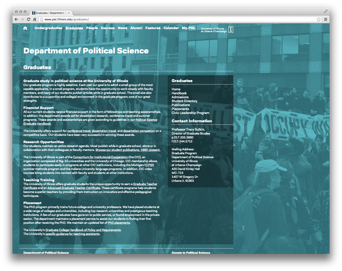 University of Illinois Department of Political Science Website 2