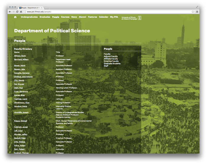 University of Illinois Department of Political Science Website 3