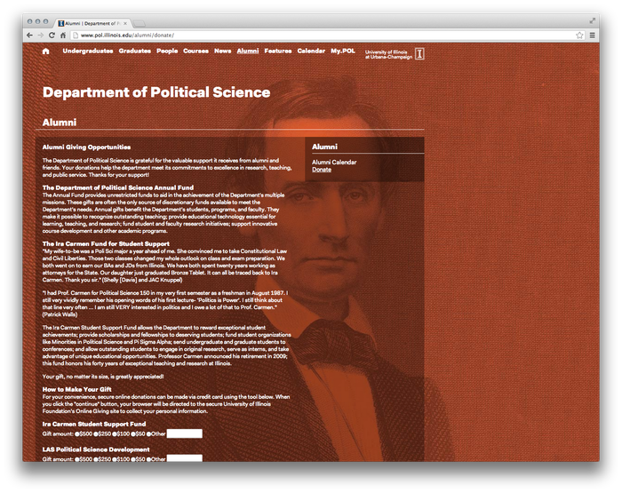 University of Illinois Department of Political Science Website 4