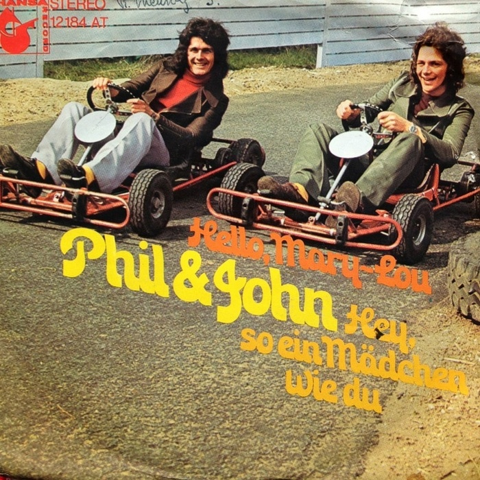 "Phil & John – ""Hello, Mary-Lou"" / ""Hey, so ein Mädchen wie du"" single cover"