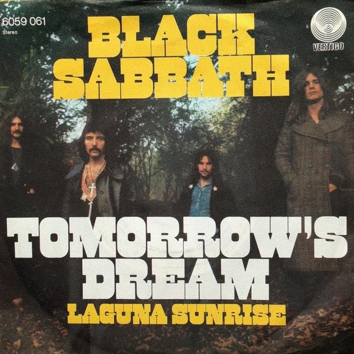 "Black Sabbath – ""Tomorrow's Dream"" / ""Laguna Sunrise"" single sleeve"