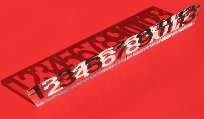 13-inch Lucite® ruler 1