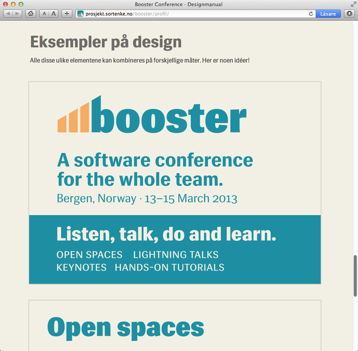 Booster Conference 2013 Designmanual 2