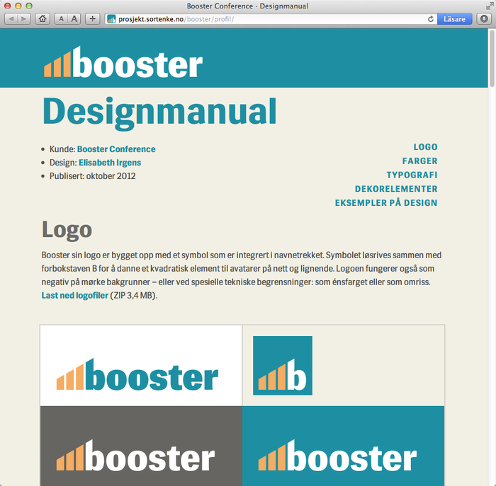 Booster Conference 2013 Designmanual 4