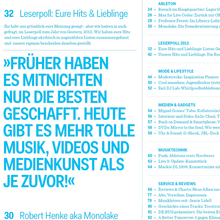 <cite>De:Bug</cite> Magazin für Elektronische Lebensaspekte