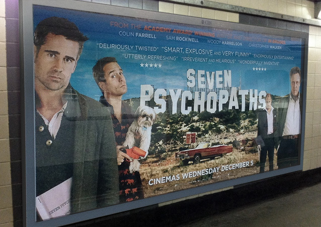 Seven Psychopaths UK advertising 2