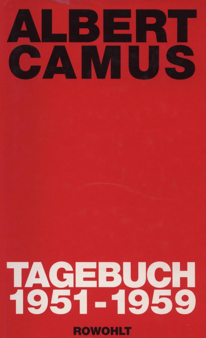 Tagebuch 1951–1959 by Albert Camus
