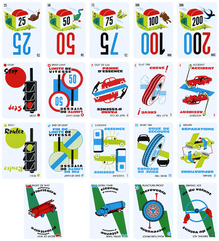 Mille Bornes Card Game (1960 Parker Brothers Bilingual Edition) 6