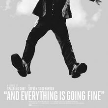 "<cite>""And Everything Is Going Fine""</cite> Movie Poster"