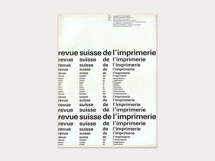 Typographische Monatsblätter, 1961 No. 12