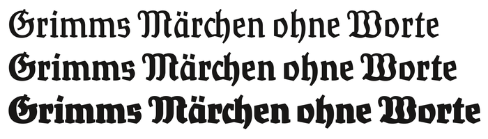"If Rostrot is a Fraktur Sans, RosenRot is the ""Antiqua"" counterpart: It is seriffed, so to speak, and exhibits some stroke contrast."