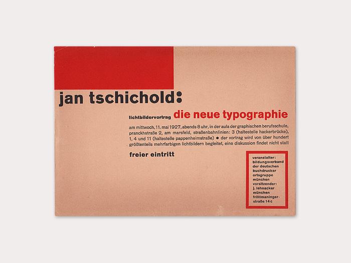 Die Neue Typographie, lecture invitation