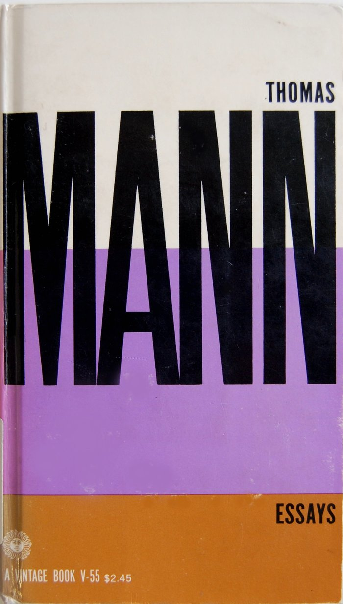 Thomas Mann Essays, Vintage Books Edition
