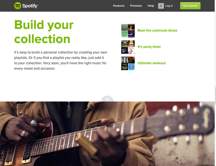 Spotify brand and website 2